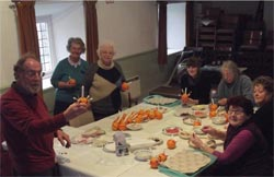 Preparing Christingles in the Old School Room